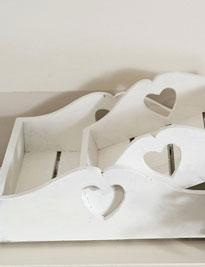 Setdue vassoi in legno di recupero