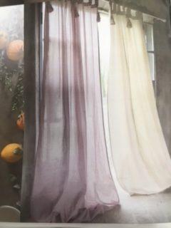 Tenda Con Passanti E Embrasse 150x300 Cm Rosa Infinity Blanc