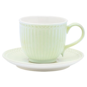 TAZZA CON PIATTINO ALICE VERDE GREENGATE