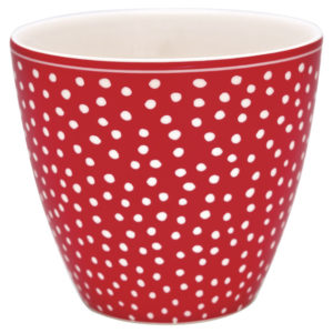 LATTE CUP DOT ROSSA